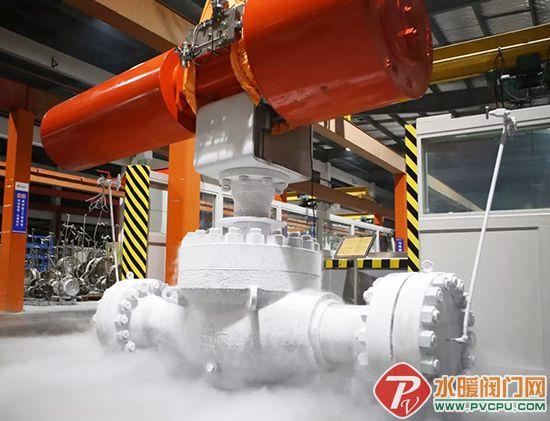 纽威大口径1500LB上装式气动超低温开关球阀顺利通过中石油江苏LNG接收站验收