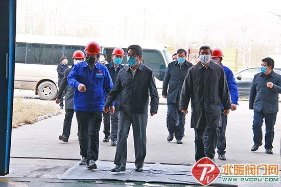 省委书记林铎到兰高阀门调研企业疫情防控和复工复产工作